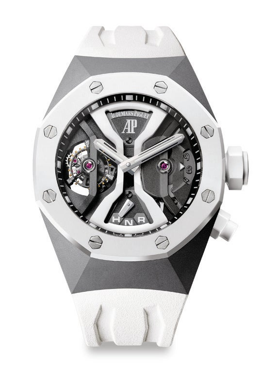 Audemars piguet s royal oak concept gmt tourbillon elite for 6 salon in royal oak