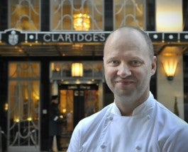 Simon Rogan outside Claridges_