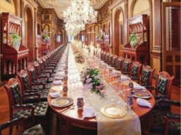 101-Seat Table / Falaknuma Palace
