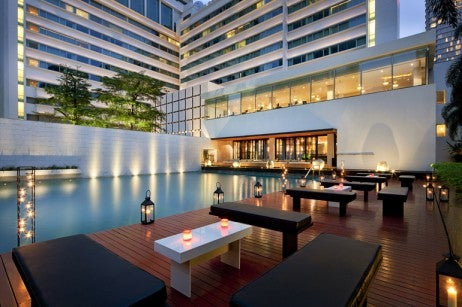 Nahm Restaurant Building Pool Exterior