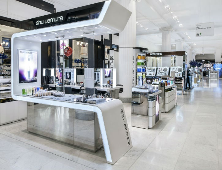 Selfridges London Shu Uemura Loop Bar