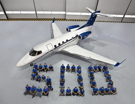 Embraer 500th Phenom family jet