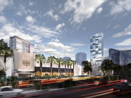 Rendering of the SLS Las Vegas Exterior