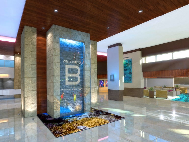 Rendering Of The B Resort Spa Lobby