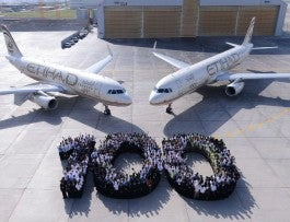 Etihad - 100th aircraft Photo