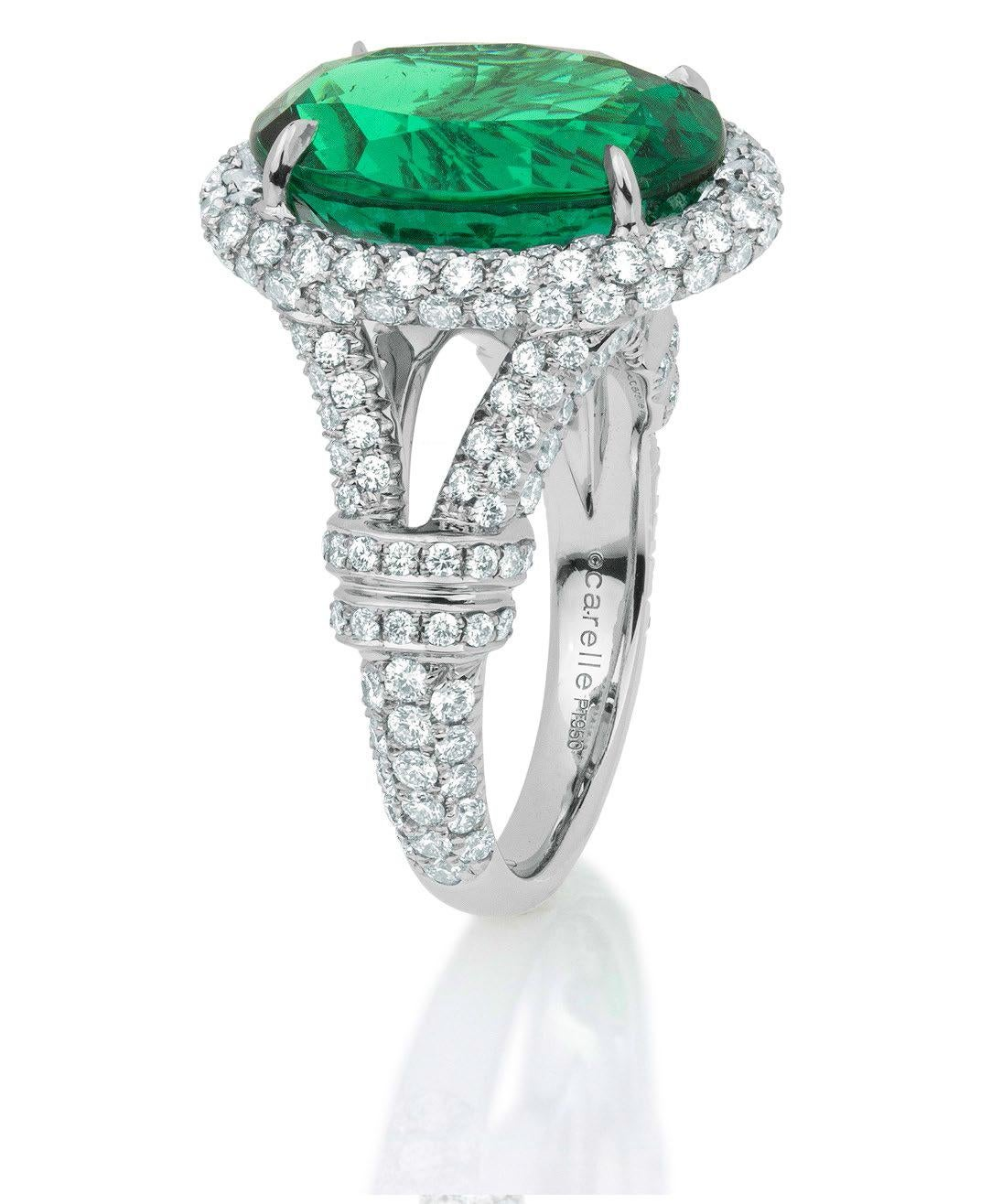 Carelle Releases Zambian Emerald Ring Elite Traveler