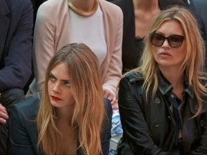 Front-rowers included Kate Moss, Cara Delevigne, Anna Wintour, Harvey Weinstein, and Olivia Palermo.
