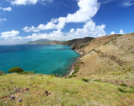Coastline of Saint Kitts