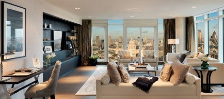Interior at Penthouse Plot 590 Battersea Reach Tower