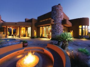 The Ritz-Carlton Residences, Dove Mountain-44 firepit and back of house