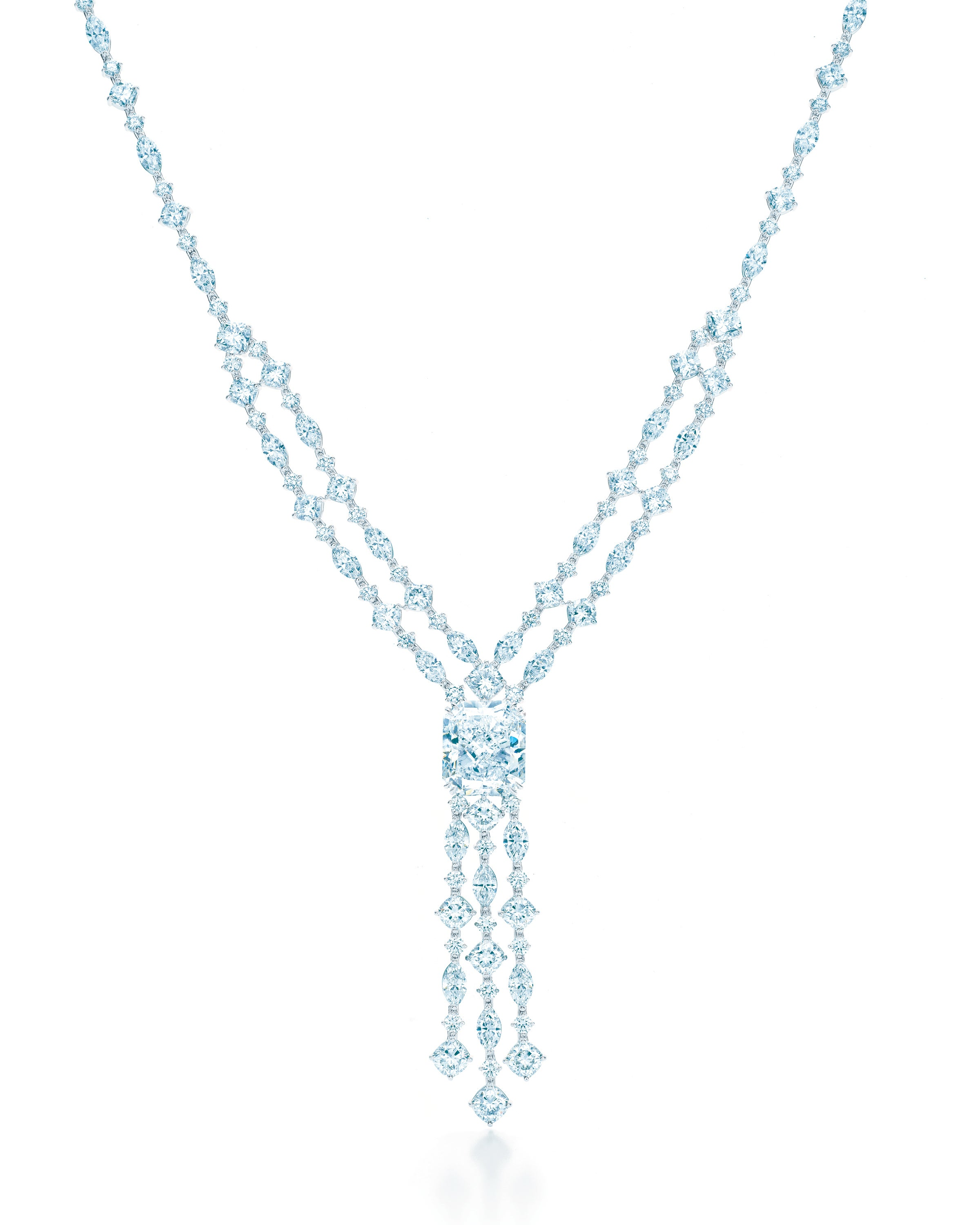 Tiffany co masterpieces the diamond fringe necklace for Where is tiffany and co located