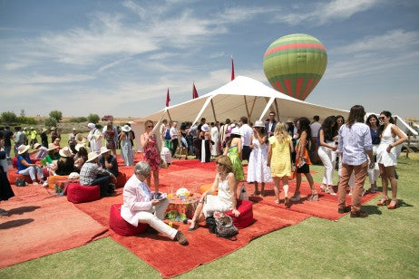Guests at British Polo Day Morocco. Credit Keoma Yac