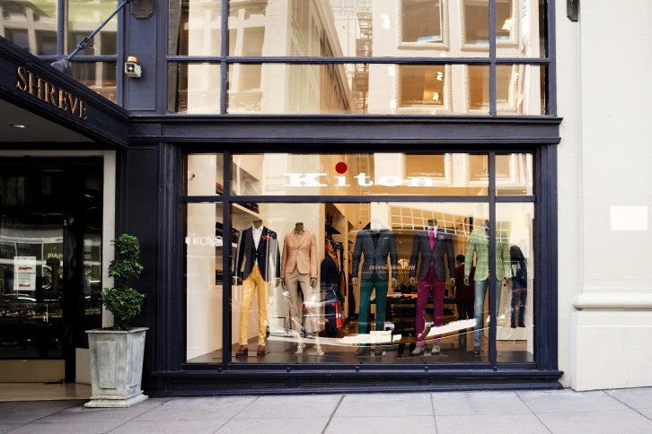 Kiton San Francisco, located in the Shreve Building