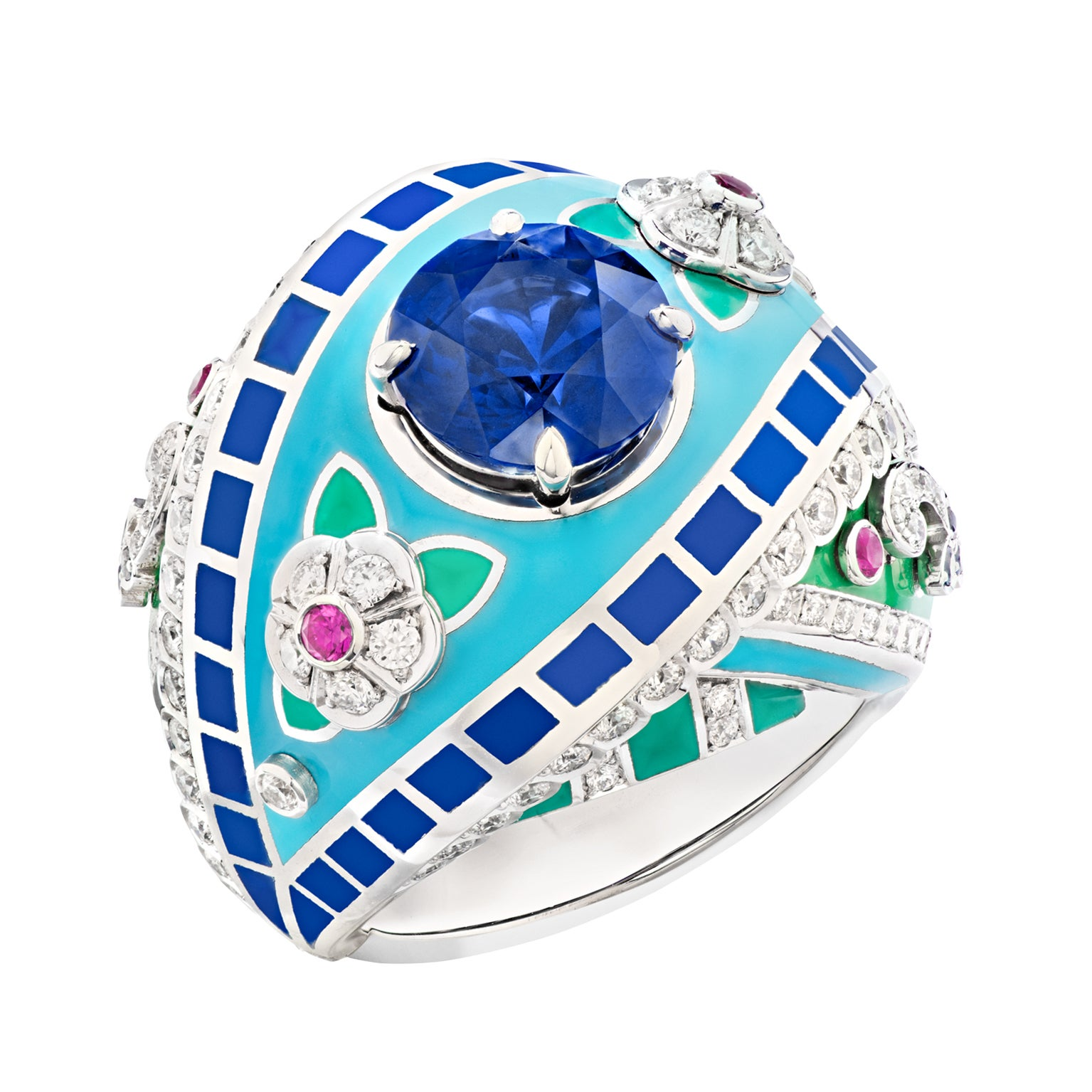 Fabergé Summer in Provence Multi-coloured Sapphire Ring