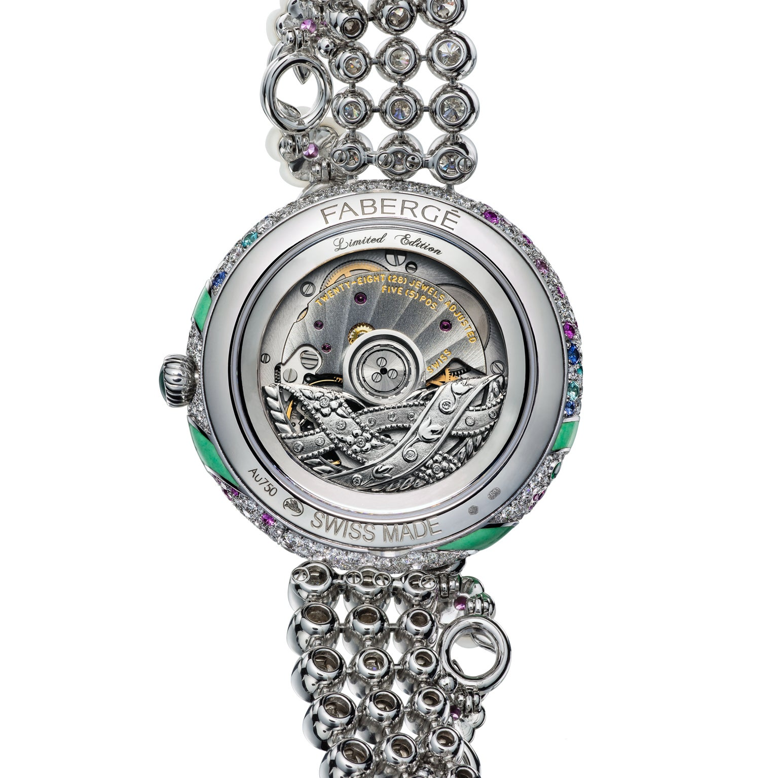 Fabergé Summer in Provence Multi-coloured Sapphire Watch - back