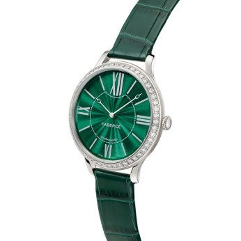 Fabergé Lady Fabergé 39mm 18ct White Gold Watch - Enamel Green Dial