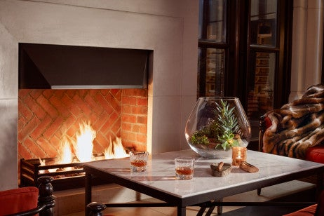The Garden Lounde Fireplace, Corinthia Hotel London