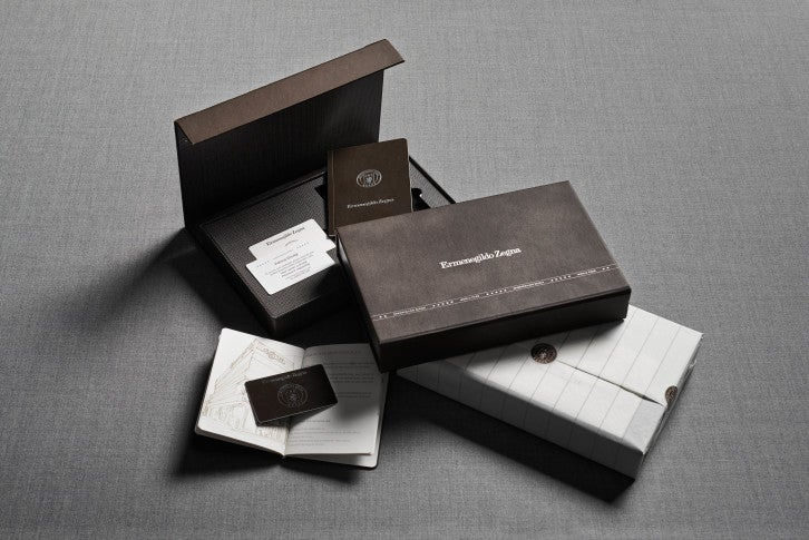 Zegna World Pass Welcome Kit Image courtesy of Zegna