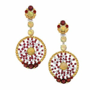Ballet Russes One-of-a-kind Earrings by Abellán New York