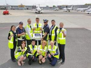 ExecuJet Germany's Berlin FBO team celebrate 10 year anniversary (small)...