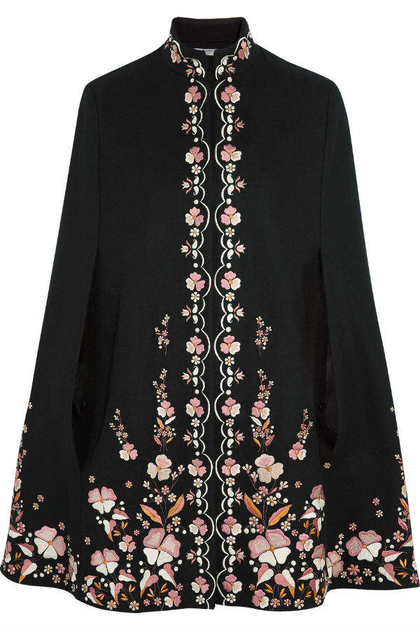 vilshenko-embroidered-wool-blend-cape
