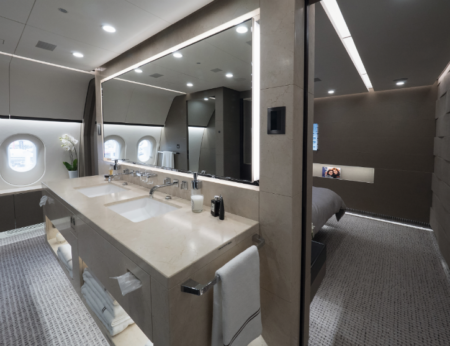 Aviation a dream come true elite traveler for Private jet bathroom