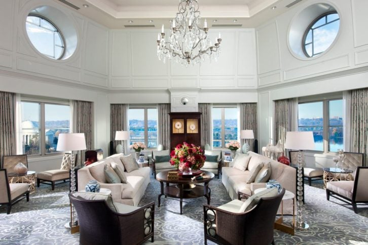 Mandarin Oriential Washington DC Presidential Suite
