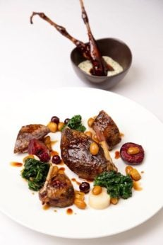 two and three Michelin starred restaurants in London, Marcus food