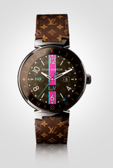 louis vuitton tambour horizon monogram watch