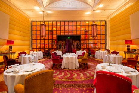 two and three Michelin starred restaurants in London, sketch (the lecture room and library) interior dining room