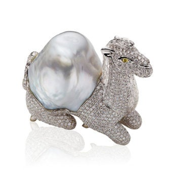 william noble camel brooch