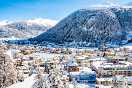 Tucked Into The Canton Of Graubünden This Swiss Mountain Town Draws Visitors In For Its Ski Scene And Annual World Economic Forum With Activities