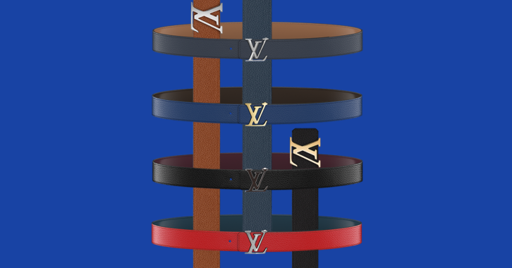 My LV Belt in several different customized colorways and designs