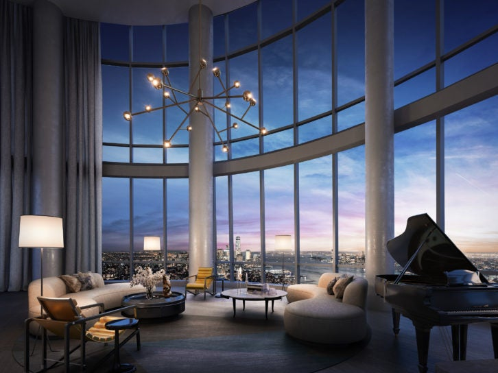 New penthouse unveiled at fifteen hudson yards nyc elite for Luxury penthouses in manhattan