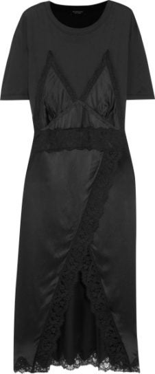 burberry net-a-porter capsule collection black lace dress