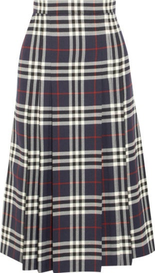 burberry net-a-porter capsule collection plaid skirt