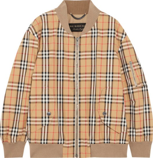 burberry net-a-porter capsule collection bomber