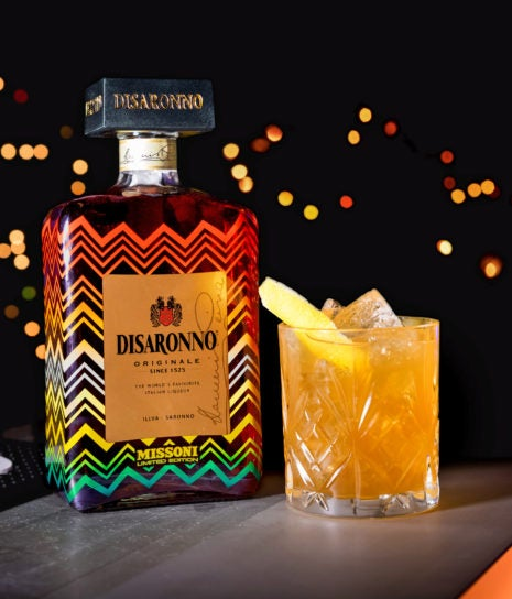 disaronno wears missoni cocktail