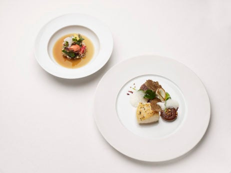 The food at The Dorchester's 10th Anniversary with Alain Ducasse and Tom Kitchin