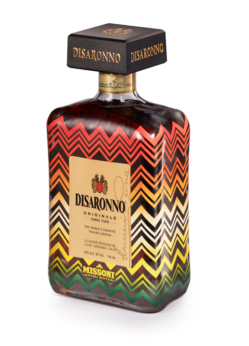 disaronno wears missoni bottle