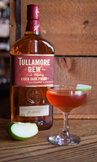 tullamore d.e.w. cider cask finish whiskey forbidden fruit cocktail
