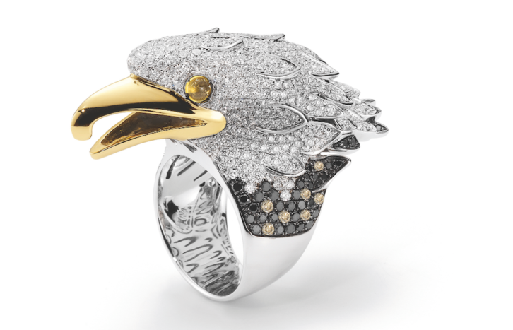 roberto coin limited-edition eagle ring
