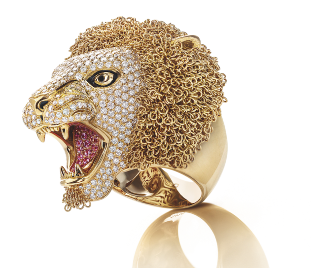 roberto coin limited-edition lion ring