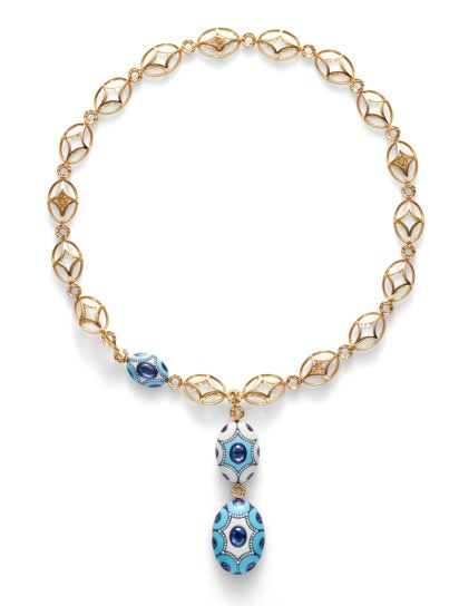 Chantecler 18K yellow gold and titanium necklace