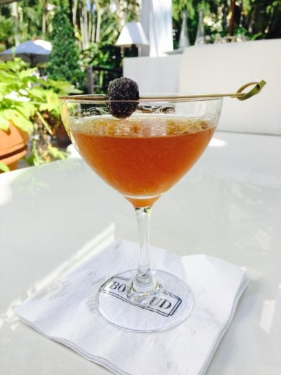 bulleit manhattan winter's tale - cafe boulud palm beach