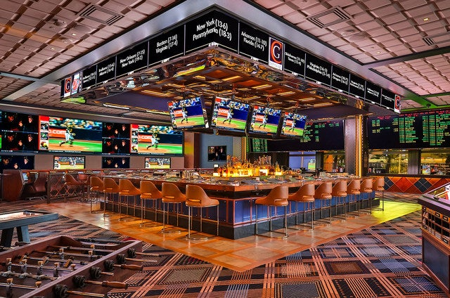 Race & Sports Book at The Cosmopolitan Las Vegas - Where to Watch Super Bowl LII in Las Vegas