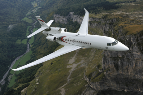 dassault falcon 8X long range private jet