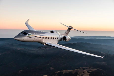gulfstream g650er in air