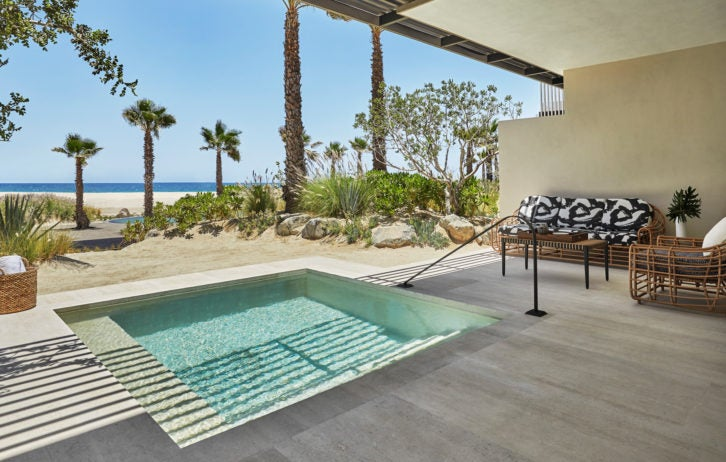 Four Seasons Los Cabos - a plunge pool on a terrace