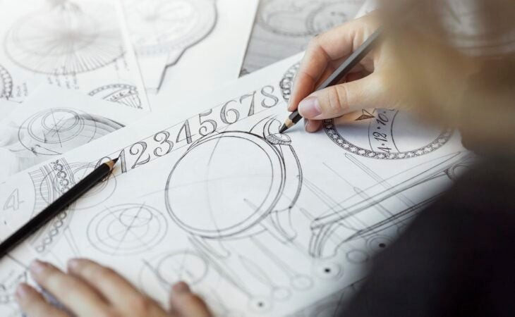 hand-drawing design for egerie watch